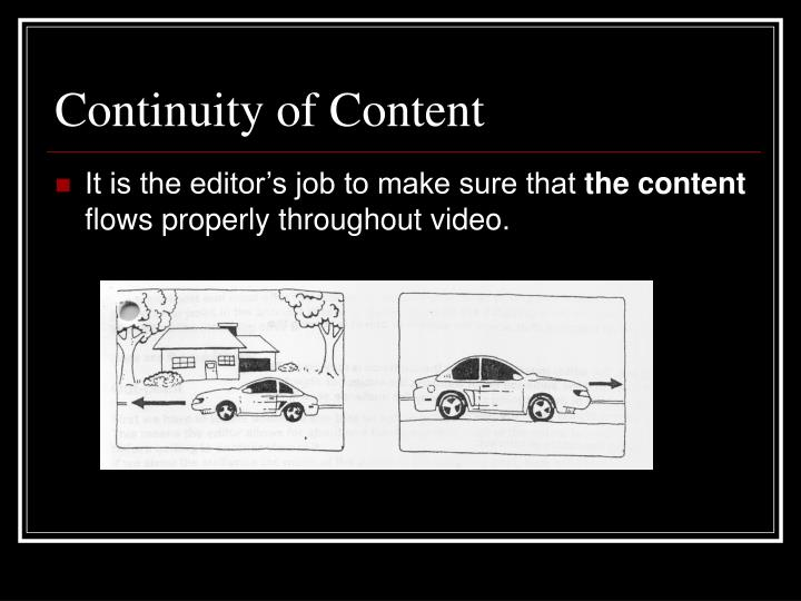 Continuity of Content