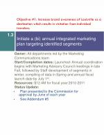 initiate a bi annual integrated marketing plan targeting identified segments
