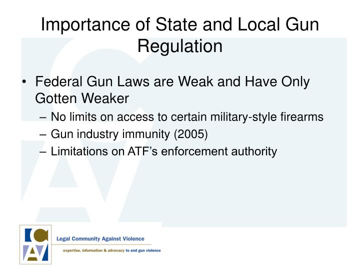 Importance of State and Local Gun Regulation
