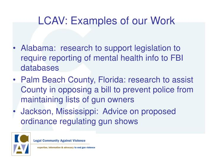 LCAV: Examples of our Work