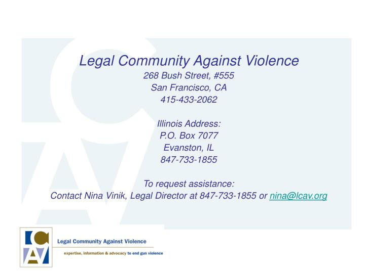 Legal Community Against Violence