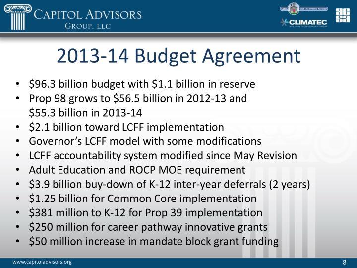 2013-14 Budget Agreement