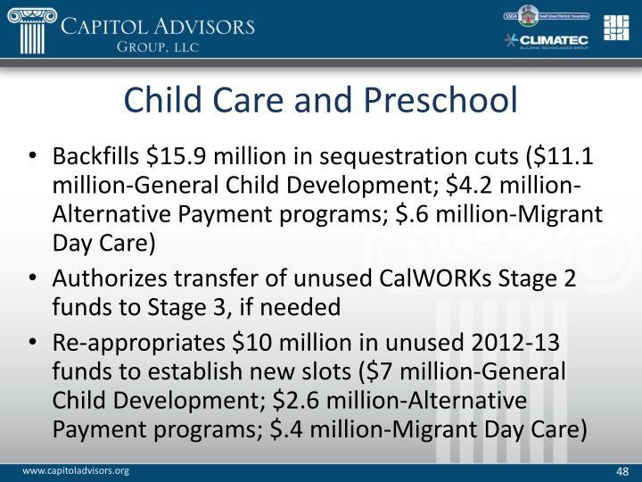 Child Care and Preschool