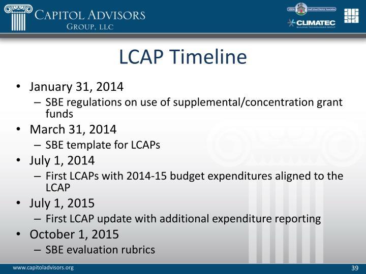 LCAP Timeline