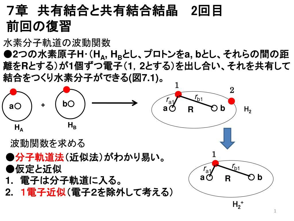 PPT - 7章 共有結合と共有結合結...
