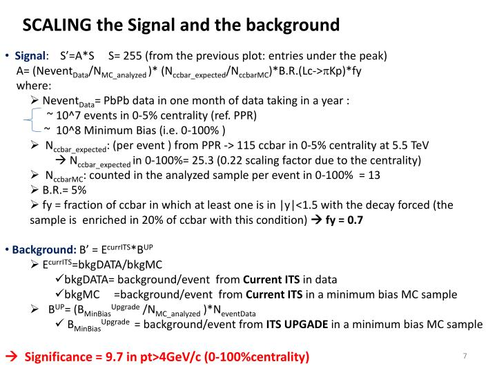 SCALING the Signal and the background