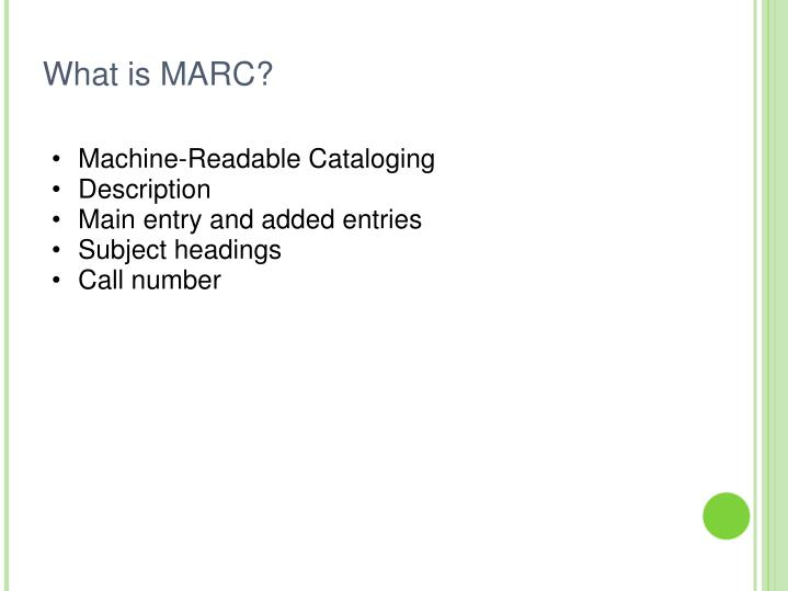 What is marc