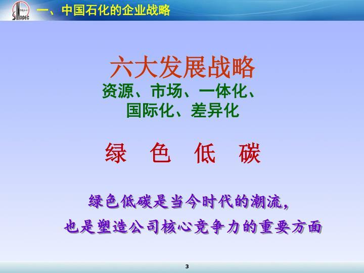 一、中国石化的企业战略