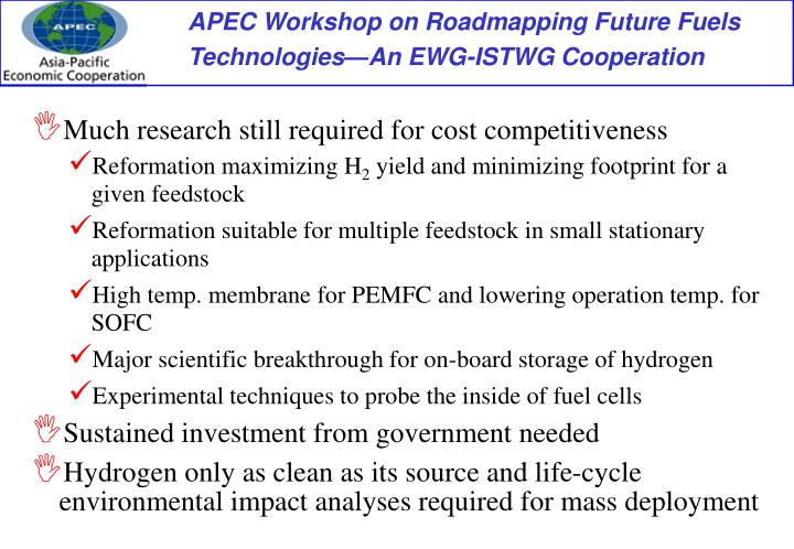 Much research still required for cost competitiveness