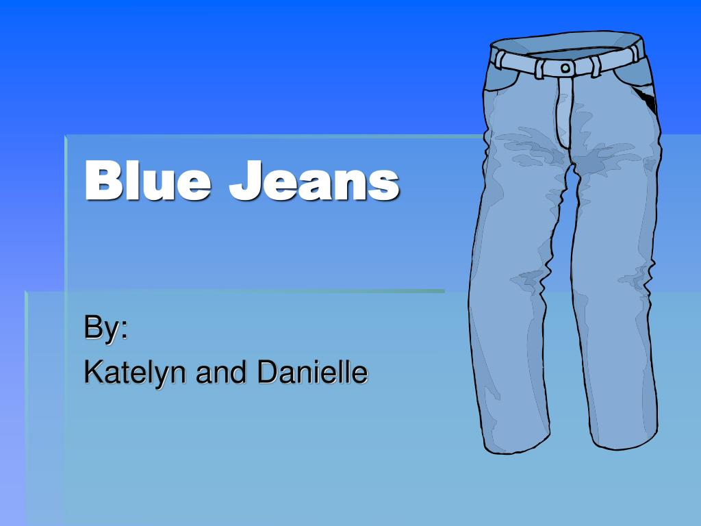 ppt blue jeans powerpoint presentation id 4709751