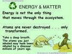 energy matter