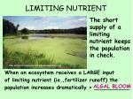 limiting nutrient