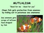 mutualism good for me good for you2