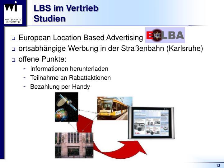 LBS im Vertrieb