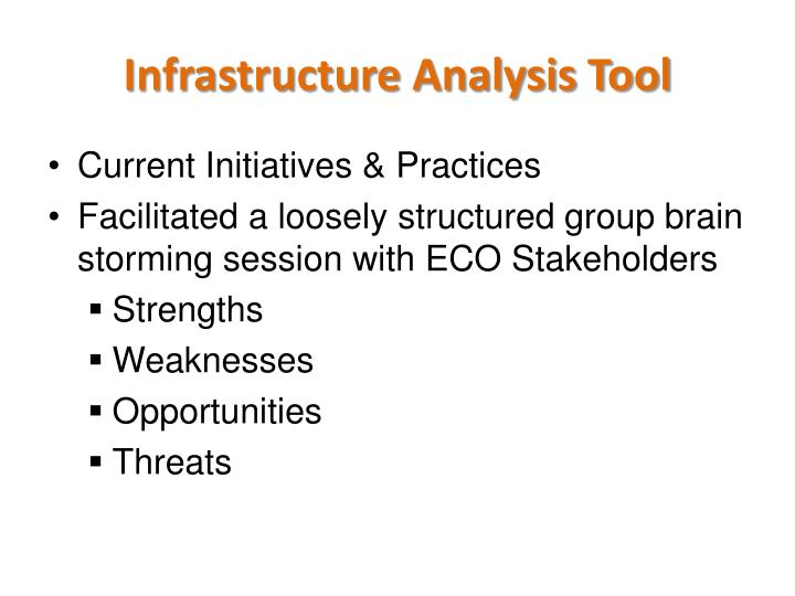 Infrastructure Analysis Tool