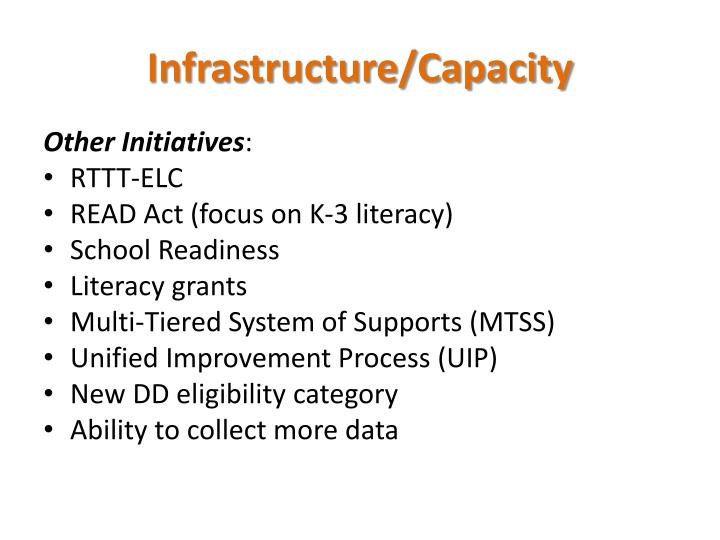 Infrastructure/Capacity