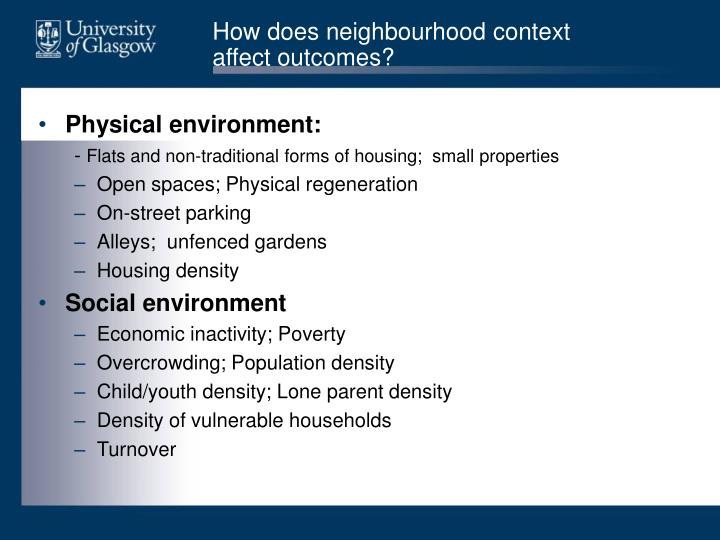 How does neighbourhood context