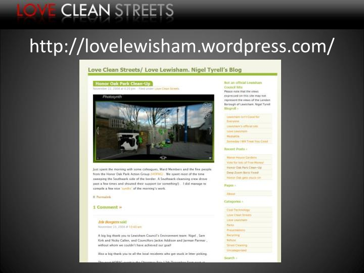 http://lovelewisham.wordpress.com/