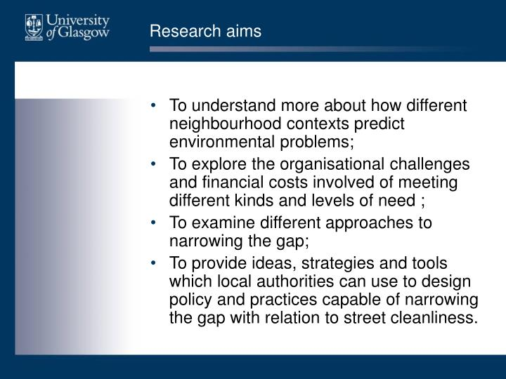 Research aims