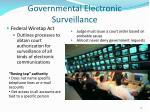 governmental electronic surveillance
