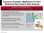 insurance example mapreduce for non relational data used in risk analysis