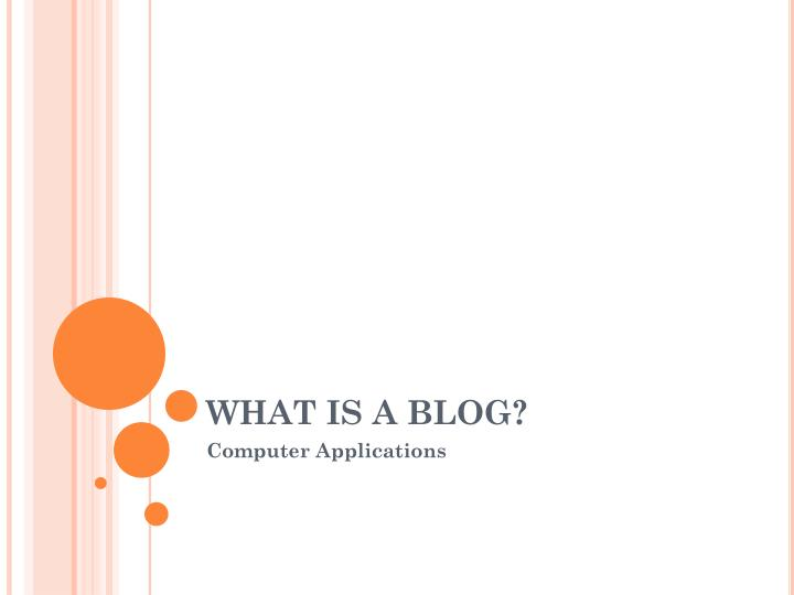 what is a blog n.