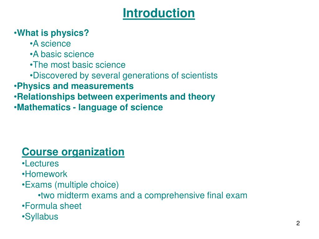 PPT - PHYSICS 101 ( Physics for the Nonscientist) PowerPoint