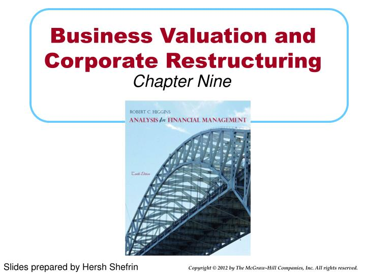 business valuation and corporate restructuring n.