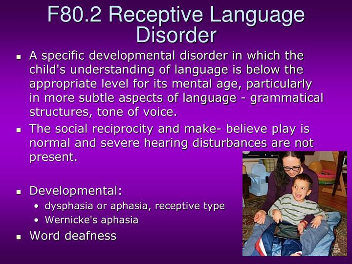 F80.2 Receptive Language Disorder