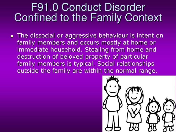 F91.0 Conduct Disorder Confined to the Family Context