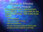 develop an effective teaching module