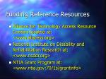 funding reference resources