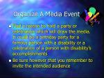 organize a media event