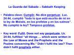 la guarda del s bado sabbath keeping15