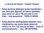 la guarda del s bado sabbath keeping17