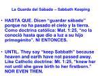 la guarda del s bado sabbath keeping18