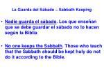 la guarda del s bado sabbath keeping2