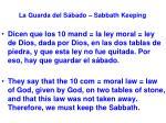 la guarda del s bado sabbath keeping23