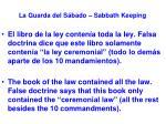 la guarda del s bado sabbath keeping26