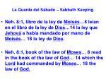 la guarda del s bado sabbath keeping31