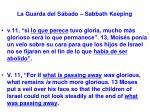 la guarda del s bado sabbath keeping46
