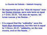 la guarda del s bado sabbath keeping49