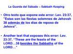 la guarda del s bado sabbath keeping51
