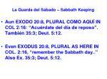 la guarda del s bado sabbath keeping53