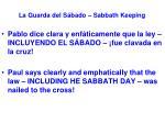 la guarda del s bado sabbath keeping54