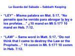 la guarda del s bado sabbath keeping59