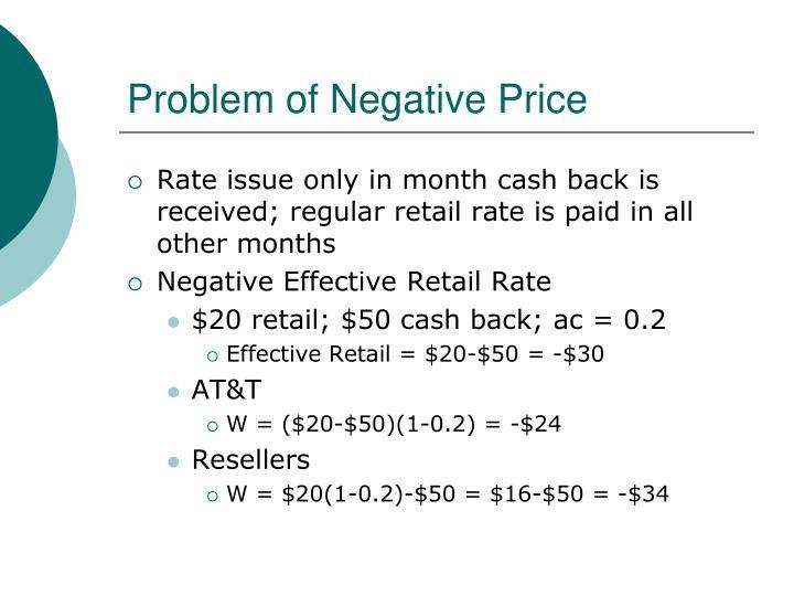 Problem of Negative Price