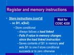 register and memory instructions4
