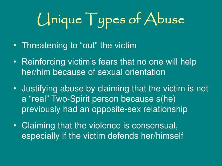 Unique Types of Abuse