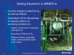 getting deuterium to miner n a
